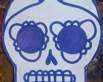 SUGAR SKULLS: Hand-Painted Stickers