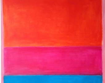Hand Painted Mark Rothko Inspired No.1 Painting Reproduction On Canvas