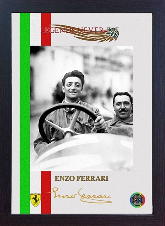 Enzo Ferrari F1 GP Legende signiert Autogramm