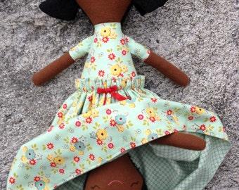 Ginny, Topsy Turvy Cloth Doll, Flip Doll, Dark Skin