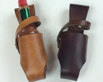 Leather Hot Sauce Holster 2oz