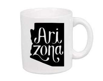 Arizona State Mug Coffee Cup Gift Home Decor Kitchen Bar Gift for Her Him Any Color Personalized Custom Jenuine Crafts
