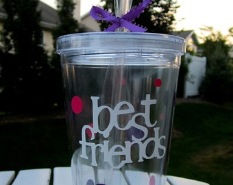 Personalized Best Friends Tumbler- Great Gift for Anyone