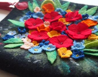 felt bag,felt purse,floral handbag,felt tote bag,felt handbag,felted wool bag,felted wool purse,felt wool purse,felted handbag,ready to ship