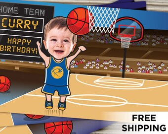 Basketball gift wrap etsy custom water bottle label personalized baby toddler kids children picture photo birthday party favor gift negle Choice Image