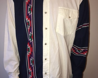 Western Aztec Button Up