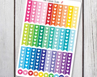 Heart Checklist Planner Stickers Designed for Erin Condren Life Planner Vertical
