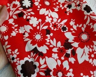 2.5 Yards It's A Hoot Momo Moda Fabric DESTASH LOT F1017 Quilting Cotton Red Floral HTF Rare Pls. Read Description, More Lots Available