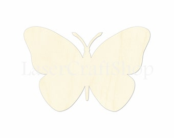 """2"""" - 34"""" Butterfly Wooden Cutout Shape, Silhouette, Gift Tags Ornaments Laser Cut Birch Wood  Insects  #1160"""