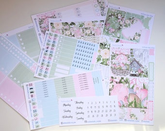 Easter Garden BIG Happy Planner Sticker Kit