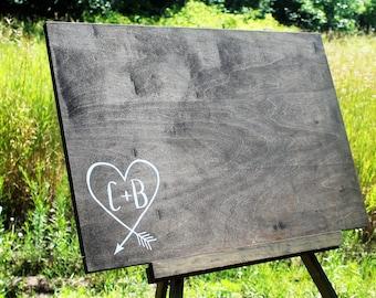 Wedding Guest Book Board, Guest Book Alternative, Wooden Guestbook, Rustic Wedding, Wedding Sign, Unique Guest Book, Card Box, Wedding Decor