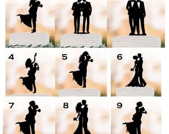 Bride and groom Wedding Cake topper silhouette, Drunk bride, Gay wedding lesbian Couple cake topper, acrylic cake topper, funny cake topper