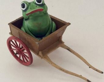 Miniature - Britains LTD - Cart - mini wheel barrel - metal miniature - Made in England - Faerie Garden - Garden - Fairy Accessories