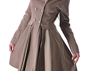 Trench coat /Beige trench coat/Raincoat/Overcoat/