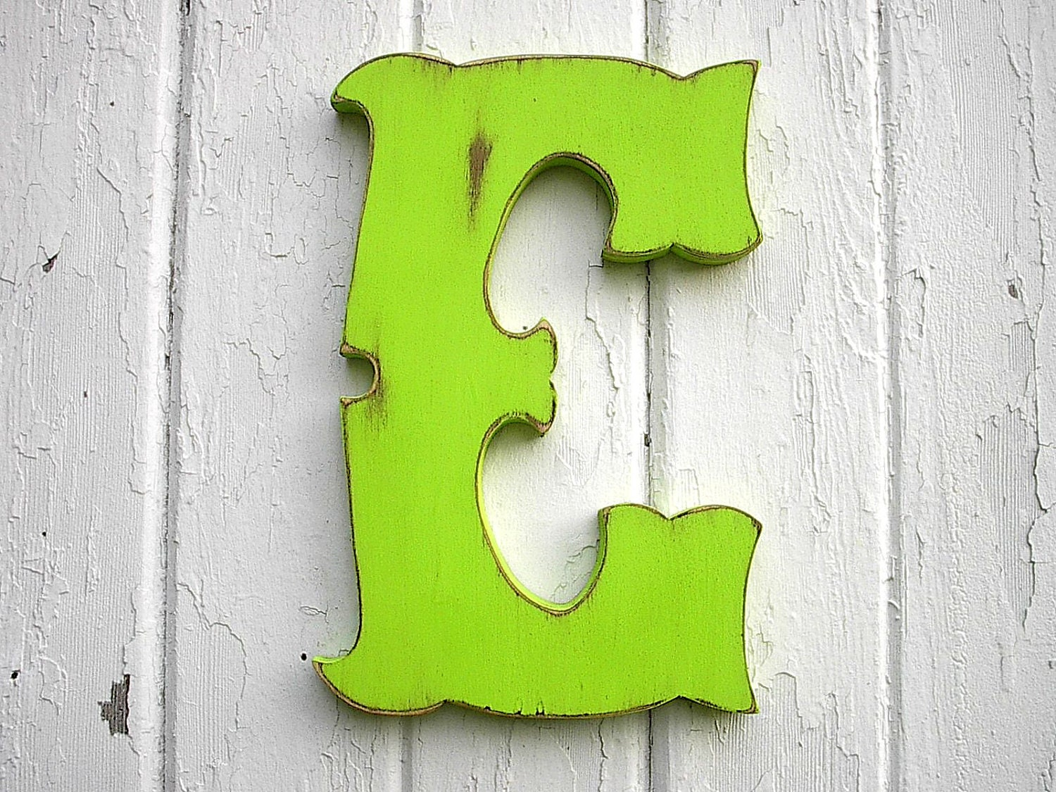 Letter E Wall Decor Decorative Shabby Chic Letter E 12 Inch Dorm Wall