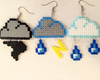 Pixel Cloud Earrings
