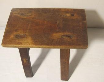 Vintage small wood stool