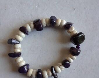 Amythest nugget bracelet