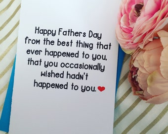 Father's Day card - son, daughter, Father's Day, funny card, humour.