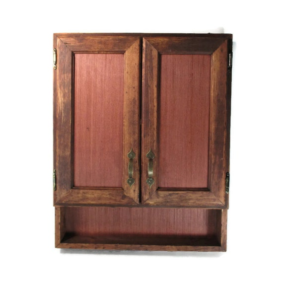 Red Oak Cabinets Kitchen: Rustic Furniture Wood Cabinet Red Oak Office Or Kitchen