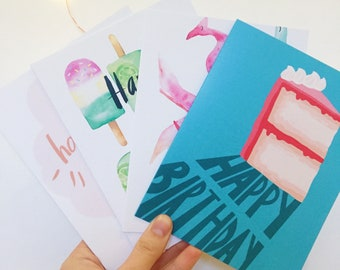 Birthday card value pack | pack of 4 birthday cards! | Birthday Cards