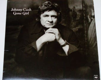 "Johnny Cash - Gone Girl - ""The Gambler"" - ""I Will Rock and Roll With You"" - Country Rock - Columbia 1978 - Vintage Vinyl LP Record Album"