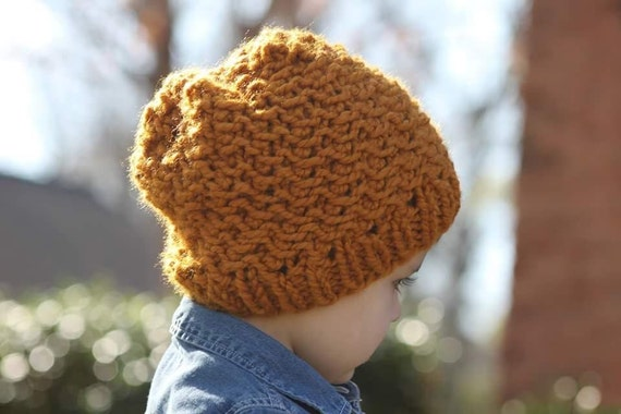 Slouchy Hat Pattern Chunky Knit Hat Slouchy Beanie Textured