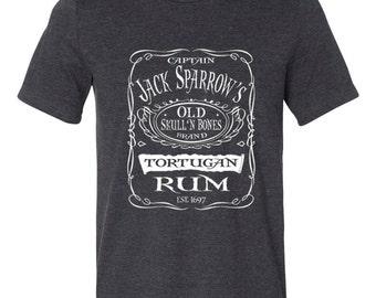 Disney Shirts Mens Captain Jack Sparrows Tortuga Rum Pirates of the Caribbean shirt Disneyland Shirt Disney World Shirt  Disney Cruise Shirt