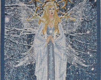 Queen of the Winter Court. A 20.5x13 inch Tapestry