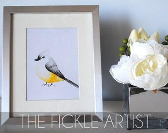 Watercolor Yellow Bird Print