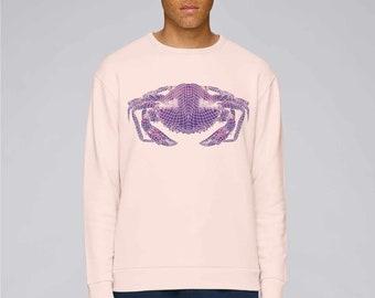 SWEAT-SHIRT Organic Cotton Pink Man, Large, Crab