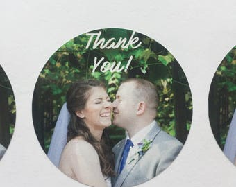 Wedding Photo Envelope Seals for Thank You Cards