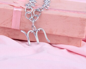 Wire Initial Necklace