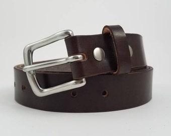 Brown Sedgwick English Bridle Leather Belt - 1.25'' W