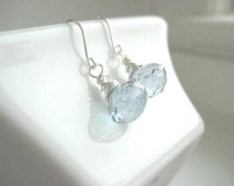 NEW Cylene Earrings - Blue Mystic Quartz Onion Briolettes