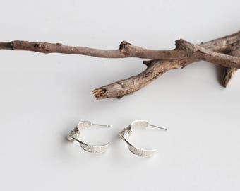 Twist Silver Earrings-S
