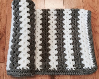 Crocheted Baby Blanket, Baby Blanket, Security Blanket, Stroller Blanket, Photo Prop