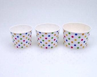 16 oz polka dot frozen yogurt Cup