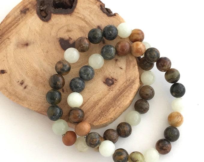jade essential oil diffuser mala bracelet