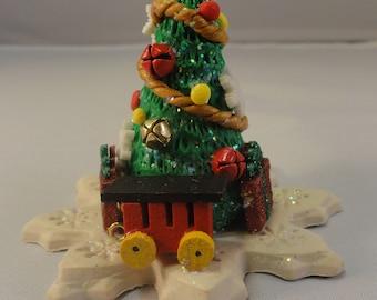 Arbre de Noël en argile polymère