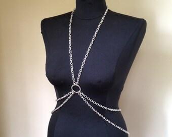 Silver Chain Body Harness