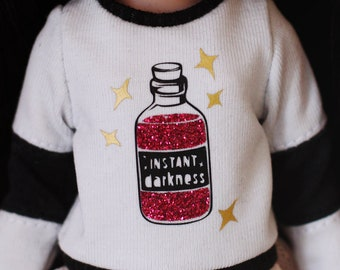 Instant Darkness - Long sleeved sweater with sparkling potion for Blythe - by Icantdance