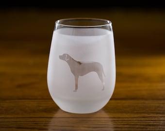 Rhodesian Ridgeback Stemless Wine Glass Set  | Birthday Gift for Dog Lover | Housewarming Present | Wine Drinker Gift | Custom Glassware