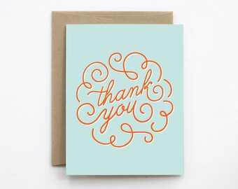 Thank You Card - Thank You Swirl