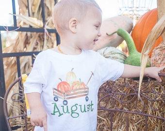 Pumpkin Patch Shirt - Pumpkin Shirt Boy - Fall Shirt Boy - Pumpkin Shirt Toddler - Personalized Pumpkin Shirt - Harvest Shirt - Thanksgiving