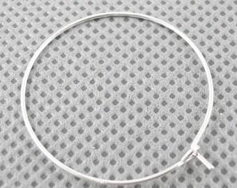Silver Hoop 20mm Earrings  DIY Jewelry Making Findings.