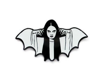 Halloween Mark of the Vampire Luna glow in the dark enamel lapel pin