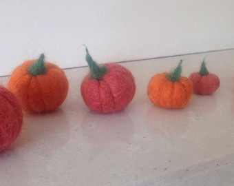 Autumnal Felted Pumpkin Garland - Limited Edition