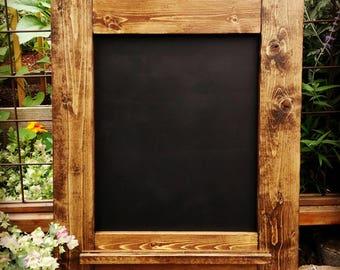 Rustic Wood Framed Chalkboard/ - Kitchen Chalkboard