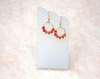 Hoop earrings, dangle earrings, autumn jewelry, fall, modern, chic